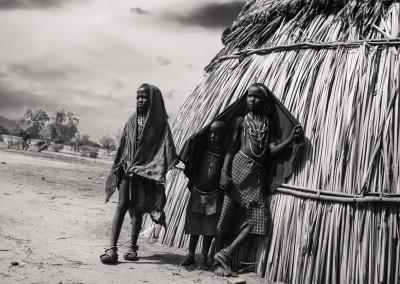 bambini capanna, etiopia