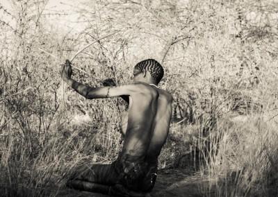 boscimani a caccia, Botswana