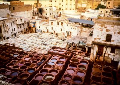 concerie di Fez, Marocco