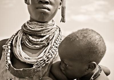 donna mursi, Valle dell'Omo, Etiopia