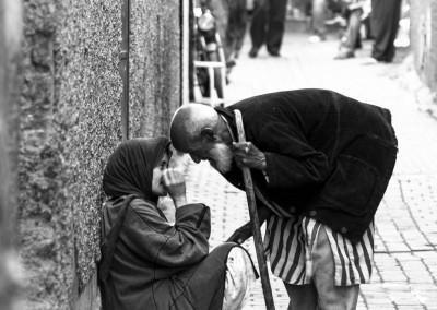 mendicanti a Marrakesch, Marocco
