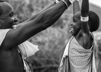 padre e figlia Masai, Kenya
