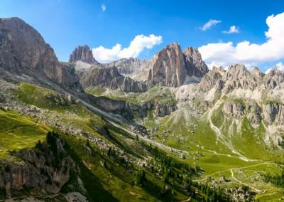 Andrea Mazzella, panorama Catinaccio, Trentino