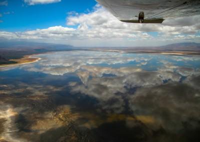 Andrea Mazzella, volo sul lago Manyara , Tanzania