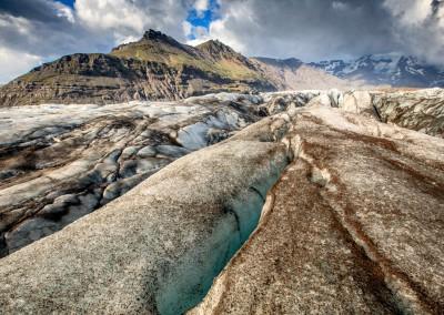 Ghiaccio e cenere, Vatnajokull glacier, Islanda