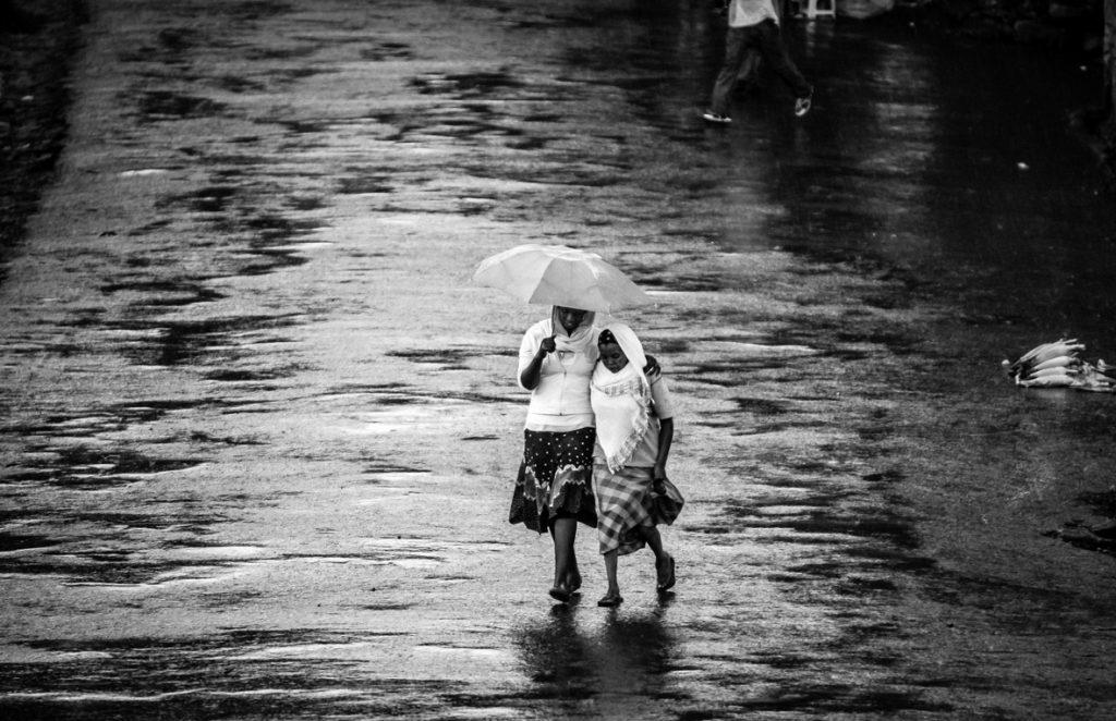Riflessi di pioggia, Gondar, Etiopia